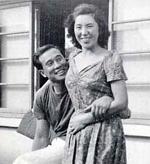 Mas Oyama with Ms Teruko Fujimaki